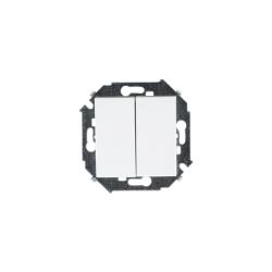 выключатель 2 кл. (бел) 1591398-030 SIMON(20шт.в кор.)