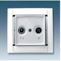 розетка R-TV оконечная с рамкой (бел.) 34488-30 SIMON