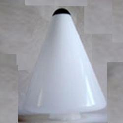 Конус d200мм PMMA Опал  №742063/40 с черным куполом Elkamet