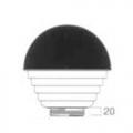 Луна d200мм Опал с черным куполом №742291/40 PMMA  Elkamet