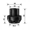 Шасси №1961(114521-чёрн) для шариков d160-250мм Elkamet