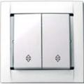 Выключатель проходн. 2 кл. (бел) 34397-30 SIMON