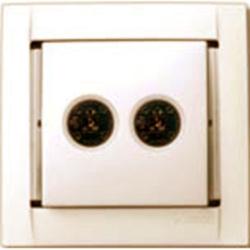 Аудиорозетка для стериодинамиков (сл.кость) 34401-31 SIMON