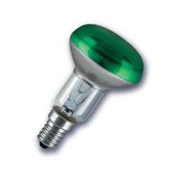 Лампа зеркальная 40Вт R50 E14(зеленая) (Philips)