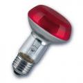 Лампа зеркальная 40Вт R63 E27(красная) (Philips)
