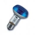 Лампа зеркальная 60Вт R80 E27(голубая) (PHILIPS)