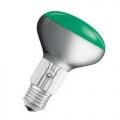 Лампа зеркальная 60Вт R80 E27(зеленая) (PHILIPS)