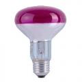 Лампа зеркальная 60Вт R80 E27(красная) (PHILIPS)