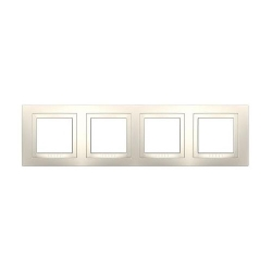 Рамка 4 места MGU2.008.25 (бежевый) Merlin Gerin