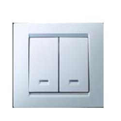 Выключатель 2 кл. с подсвет.(бел) 1590392-030 SIMON