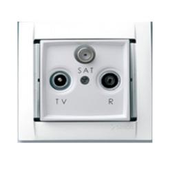 Розетка R-TV-SAT проходная (мет.шампань) 34497-34 SIMON