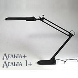 Светильник настольн.Дельта+ на подставке  (комп.люм.11Вт)чёрн. Россия