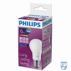 Лампа  LED Bulb 6-50W, E27,3000K А60 (12шт. в кор.) (Philips)
