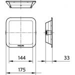 DN027B LED12/NW  L150 SQ (Philips)