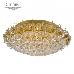 Chiaro № 232015110   (Жемчуг) Жемчуг золото 10*60W Е14 220 V люстра
