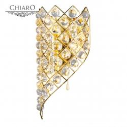 Chiaro № 232022603   (Жемчуг) Жемчуг золото 3*60W Е14 220 V бра