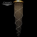 Chiaro № 244019514   (Каскад) Каскад золото 14*50W GU10 люстра