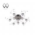MW-Light № 360010910   (Амелия) Амелия хром 10*20W G4 12 V LED люстра(пульт)