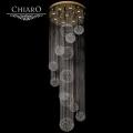 Chiaro № 384012409   (Каскад 02) Каскад02 золото 9*50W GU10 люстра(пульт)
