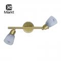 DeMarkt № 504020702   (Мона) Мона золото/белый 2*40W Е14 220 V спот