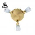 DeMarkt № 504020803   (Мона) Мона золото/белый 3*40W Е14 220 V спот