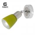 DeMarkt № 504021101   (Мона) Мона хром/зеленый 1*40W Е14 220 V спот