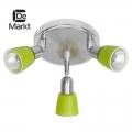 DeMarkt № 504021303   (Мона) Мона хром/зеленый 3*40W Е14 220 V спот