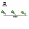 DeMarkt № 504021403   (Мона) Мона хром/зеленый 3*40W Е14 220 V спот