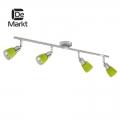 DeMarkt № 504021504   (Мона) Мона хром/зеленый 4*40W Е14 220 V спот