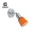 DeMarkt № 504021601   (Мона) Мона хром/оранжевый 1*40W Е14 220 V спот
