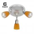 DeMarkt № 504021803   (Мона) Мона хром/оранжевый 3*40W Е14 220 V спот