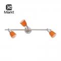 DeMarkt № 504021903   (Мона) Мона хром/оранжевый 3*40W Е14 220 V спот