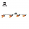 DeMarkt № 504022004   (Мона) Мона хром/оранжевый 4*40W Е14 220 V спот